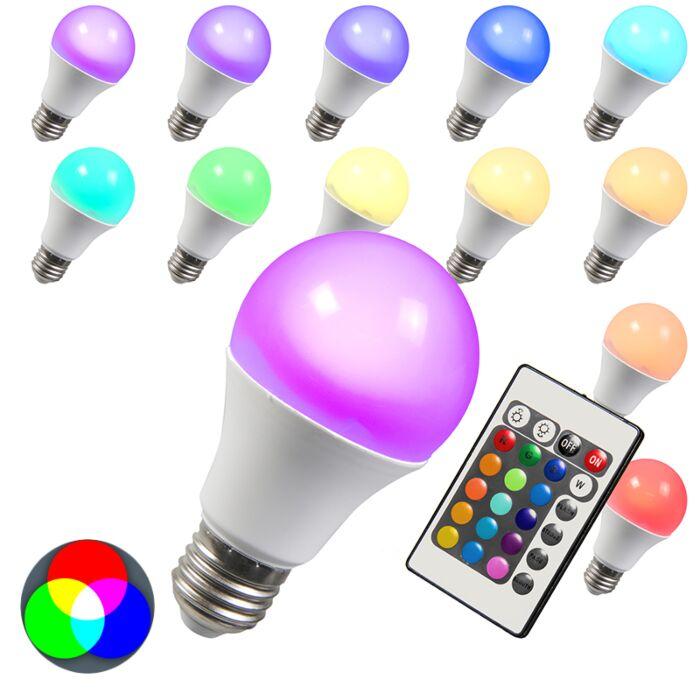 LED-pære-RGB-E27-3W