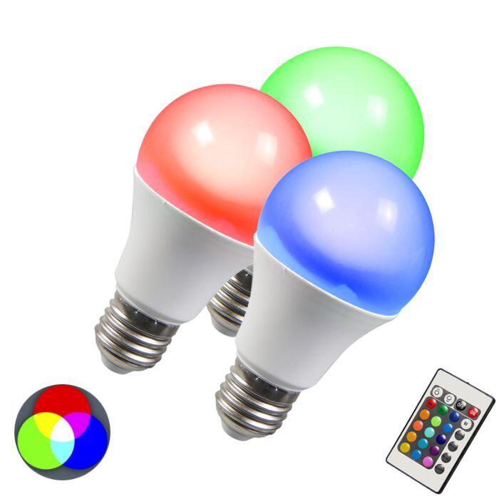 LED-pære-RGB-E27-3W-sæt-med-3
