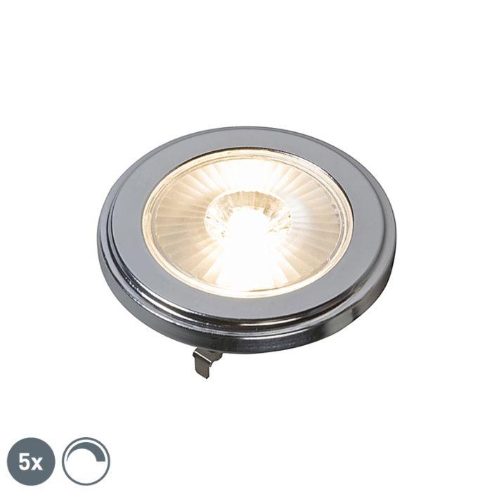 Sæt-med-5-G53-dæmpbar-AR111-LED-lampe-10W-800LM-3000K