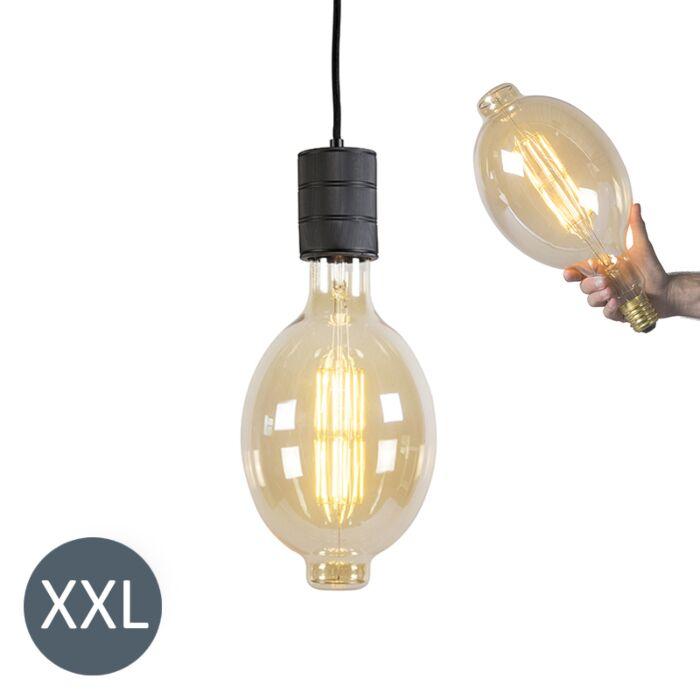 Hængelampe-Colosseum-sort-med-dæmpbar-LED-lampe