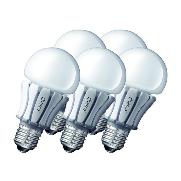 Sæt-med-5-Pharox-LED-lampe-400-E27-8W-230V