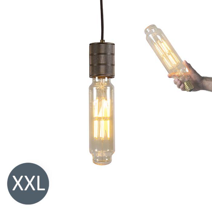 Hængelampe-Tower-bronze-med-dæmpbar-LED-lampe