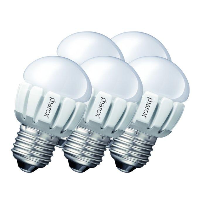 Sæt-med-5-Pharox-LED-200-P45-E27-5W-230V