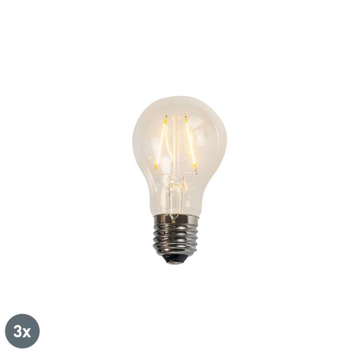Sæt-med-3-glødelampe-LED-lamper-A60-2W-2200K-klar