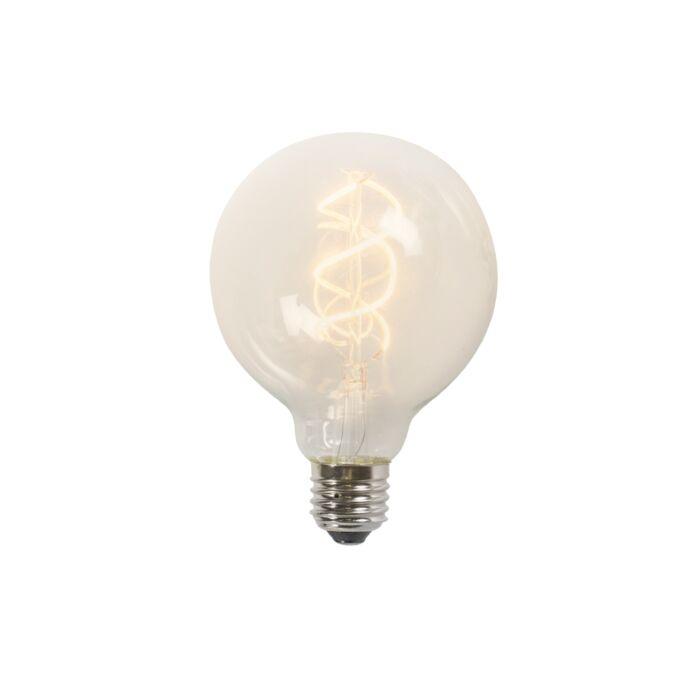 Twisted-filament-LED-lampe-G95-5W-2200K-klar