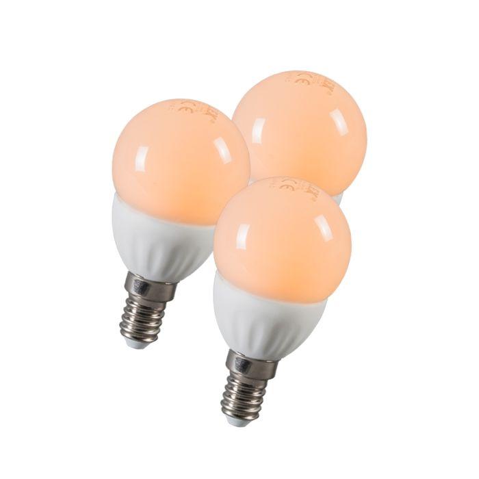 LED-kugle-E14-3W-250-lumen-ca.-25W-sæt-med-3