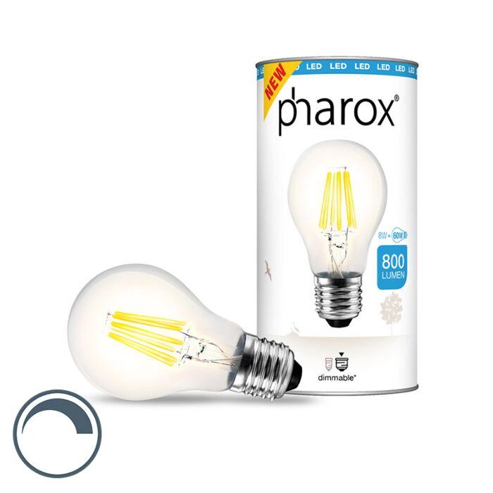 Pharox-LED-lampe-klar-E27-8W-800-lumen