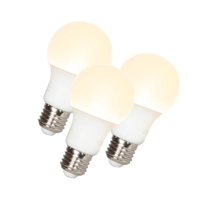 Sæt-med-3-LED-pærer-A60-E27-9W-3000K