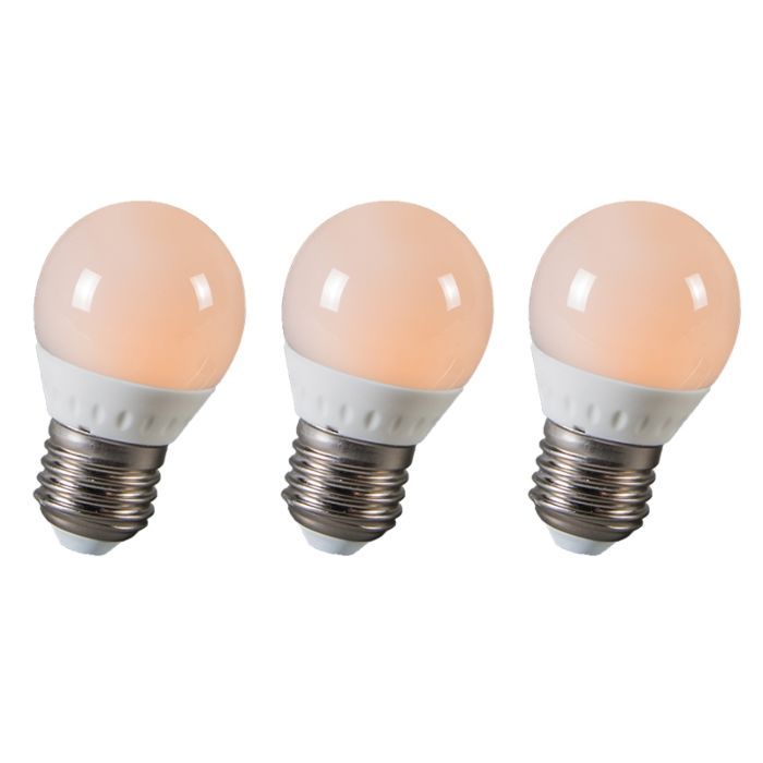LED-kugle-E27-3W-250-lumen-ca.-25W-sæt-med-3