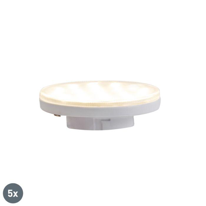Sæt-med-5-GX53-3-trins-dæmpbare-LED-lamper-3W-350-lm-3000K