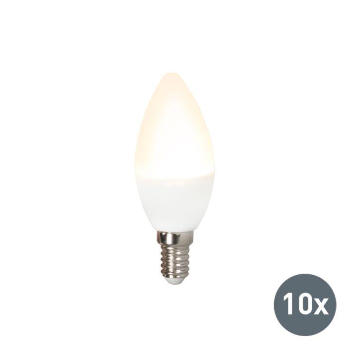 Sæt-med-10-LED-lampe-C37-E14-3W-3000K