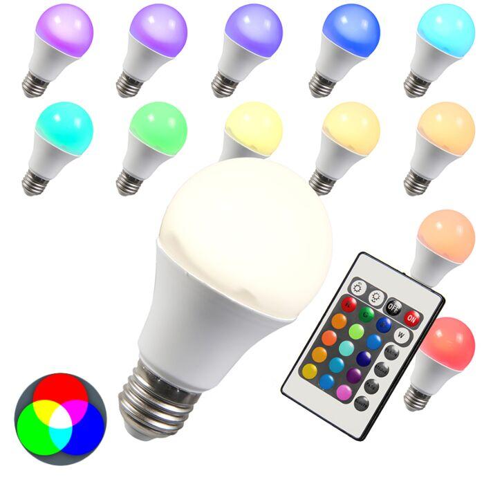 LED-pære-RGB-E27-10W-ekstra-varm-hvid