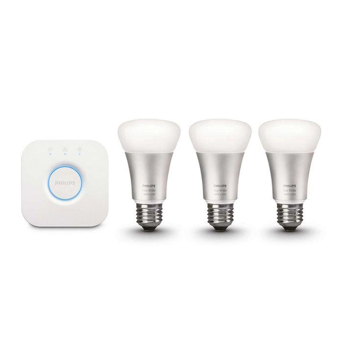 Startpakke-LED-Philips-10W-E27-sæt-med-3