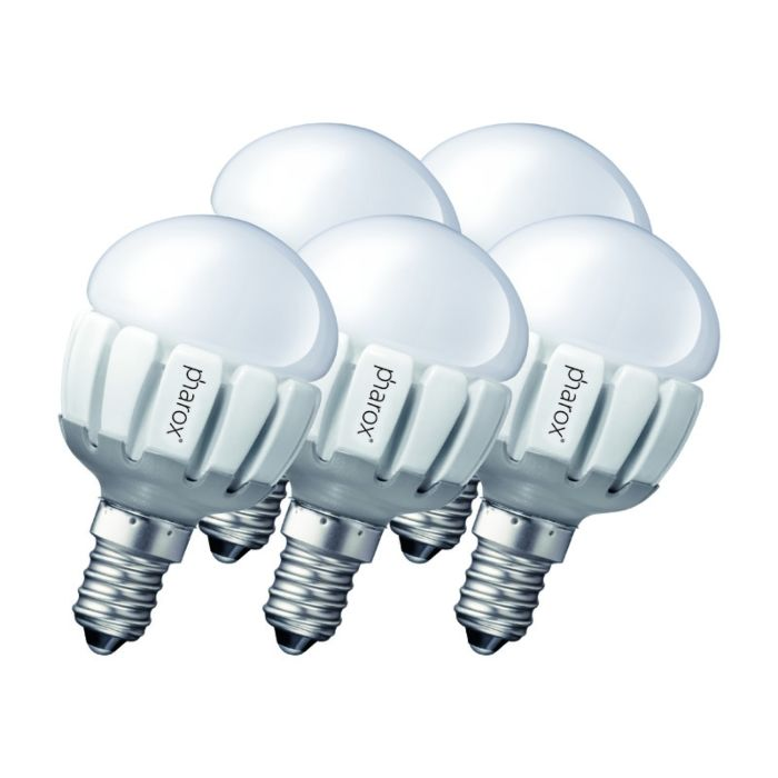 Sæt-med-5-Pharox-LED-200-P45-E14-5W-230V