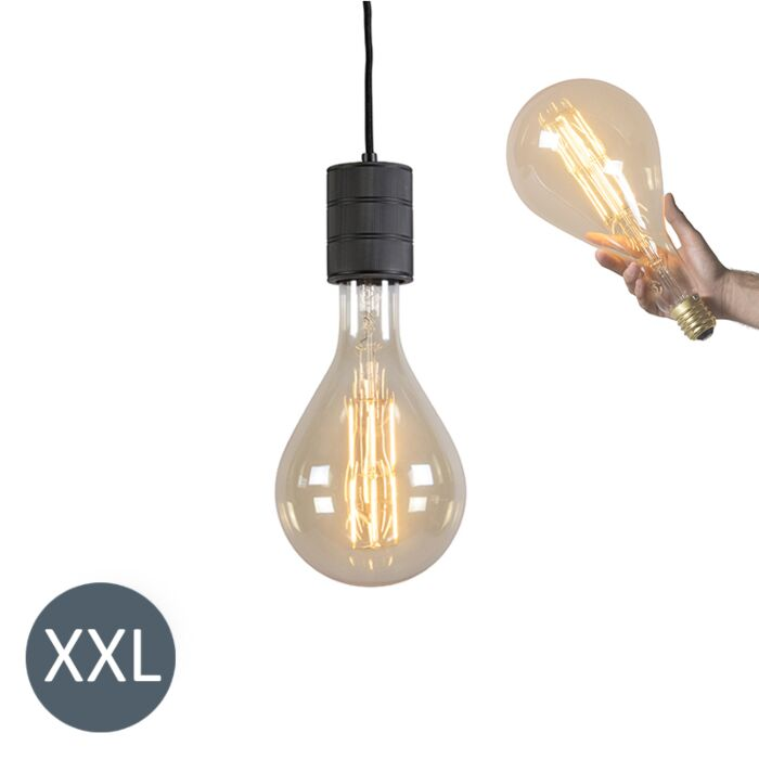 Hængende-lampe-Splash-sort-med-dæmpbar-LED-lampe