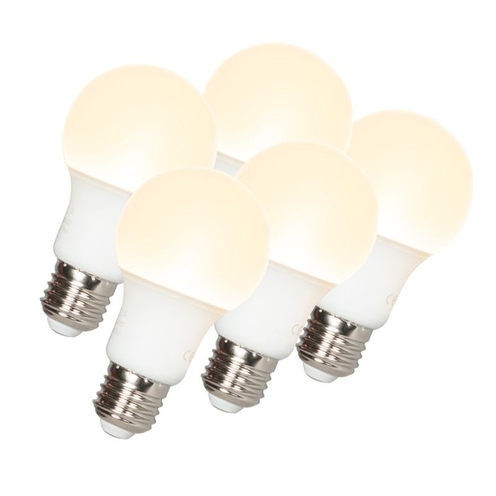 Sæt-med-5-LED-lampe-A60-E27-9W-3000K