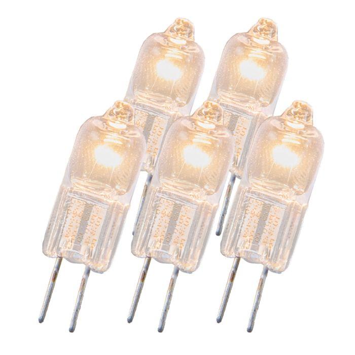 Halogenlampe-G4-20W-12V-sæt-med-5