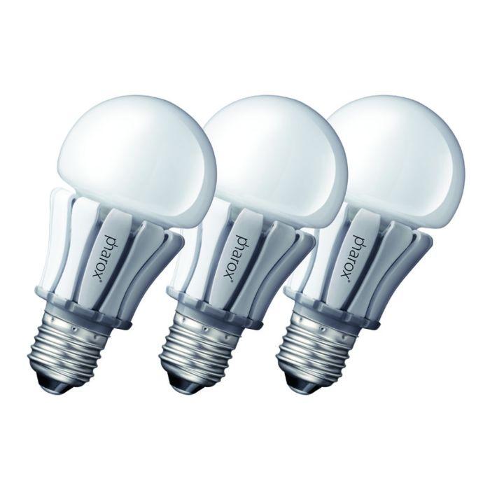 Sæt-med-3-Pharox-LED-lampe-400-E27-8W-230V
