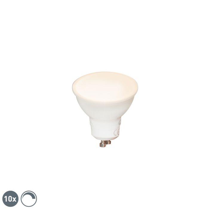 Sæt-med-10-GU10-dæmpbare-LED-lamper-6W-450-lm-2700K