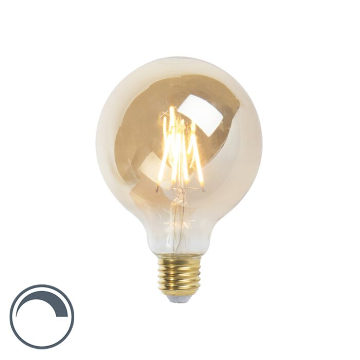 LED-E27-dæmpbar-glødelampe-G95-goldline-360lm-2200K