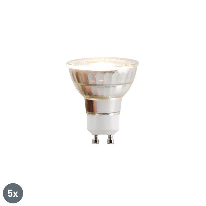 Sæt-med-5-GU10-LED-lamper-COB-5W-380lm-2700K
