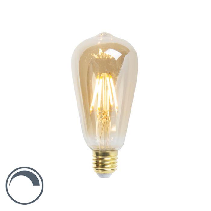 LED-glødelampe-ST64-E27-5W-360-lumen-2200K-dæmpbar