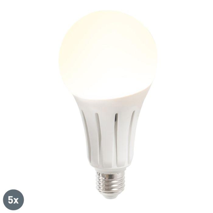 Sæt-med-5-LED-lampe-B80-24W-E27-varm-hvid
