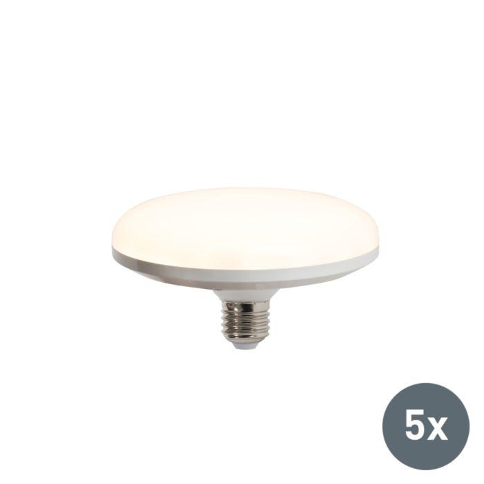 Sæt-med-5-LED-lampe-UFO-E27-18W-varm-hvid