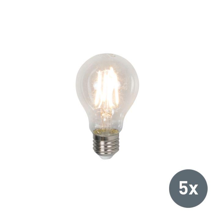 Sæt-med-5-LED-pærer-E27-4W-400-lumen-varm-hvid