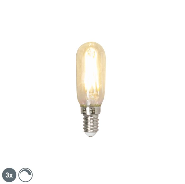 Sæt-med-3-E14-dæmpbar-LED-T25L-glødetrørslampe-3W-310-lumen-2700K