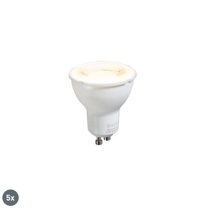 Sæt-med-5-GU10-lampe-7,5W-3000K