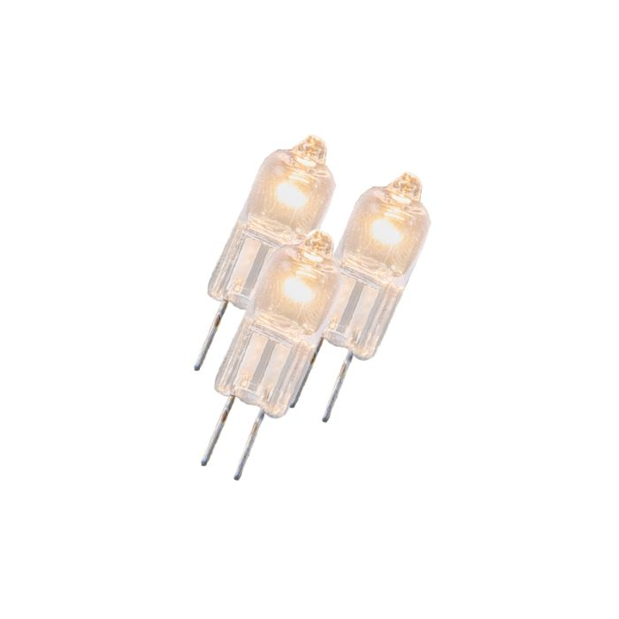 Sæt-med-3-halogenlampe-G4-5W-12V-klar