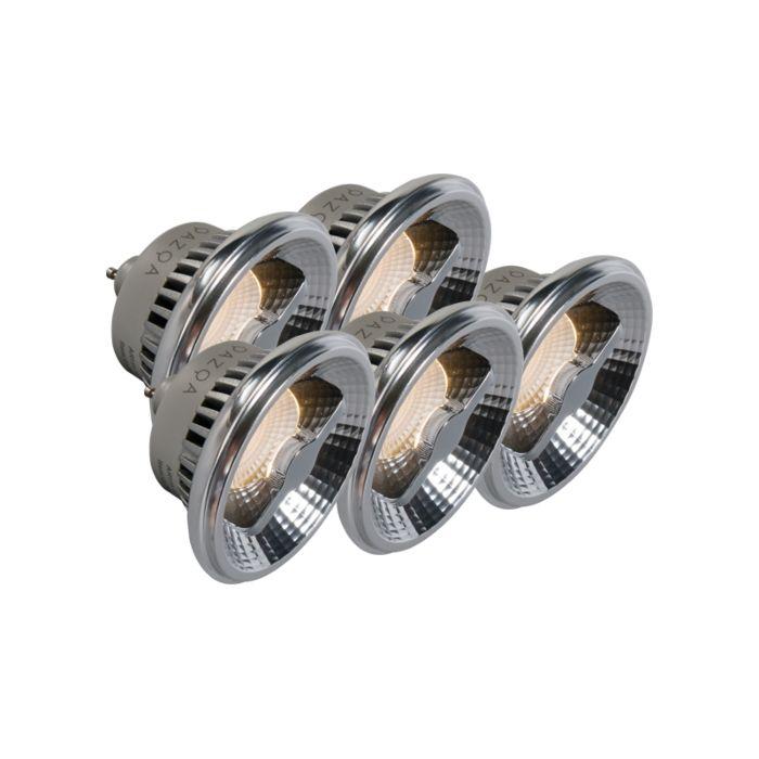 Sæt-med-5-GU10-AR111-LED-lampe-12W-240V-3000K-dæmpbar