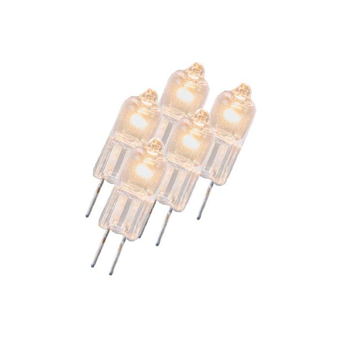 Sæt-med-5-halogenlampe-G4-5W-12V-klar