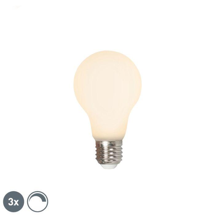 Sæt-med-3-LED-E27-240V-4W-380lm-dæmpbar