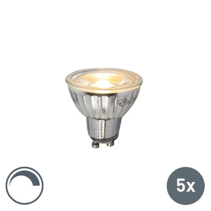 Sæt-med-5-GU10-LED-lampe-230V-5W-380LM-2700K-dæmpbar