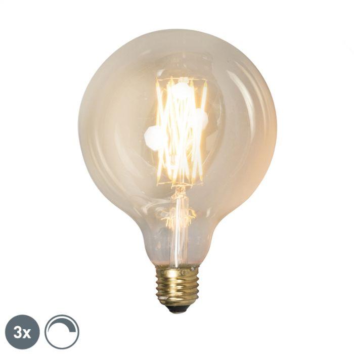 Sæt-med-3-E27-dæmpbare-LED-lamper-G125-goldline-320lm-2100-K.