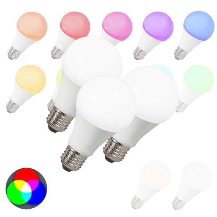Sæt-med-3-LED-pærer-E27-240V-7W-500lm-A60-Smart-Light