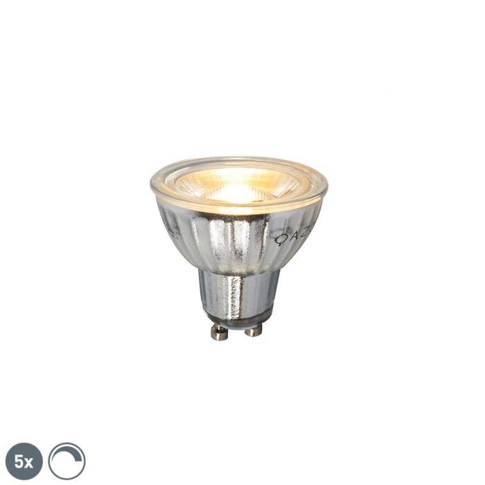 Sæt-med-5-GU10-dæmpbar-LED-lampe-7W-500LM-2700K