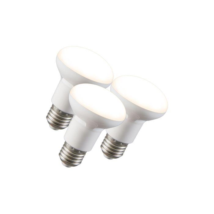 Sæt-med-3-LED-reflektorlampe-R63-E27-240V-8W-2700K-dæmpbar