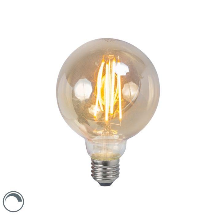 LED-glødelampe-E27-5W-2200K-G95-dæmpbar-røg