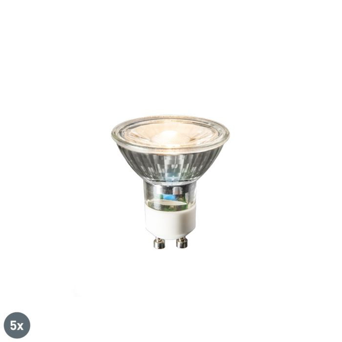 Sæt-med-5-GU10-LED-lamper-COB-3W-230lm-2700K