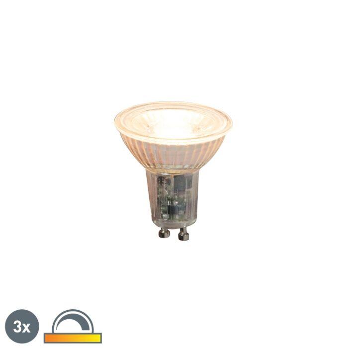 Sæt-med-3-GU10-dæmpbare-LED-lamper-5,5W-360lm-2000K---2700K