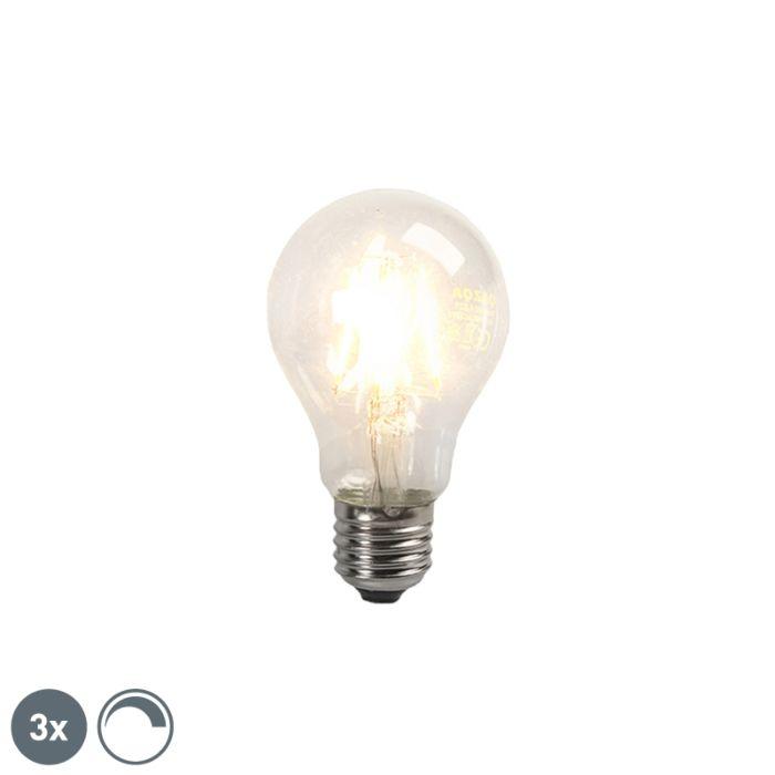 Sæt-med-3-LED-glødepærer-E27-4W-390lm-dæmpbar