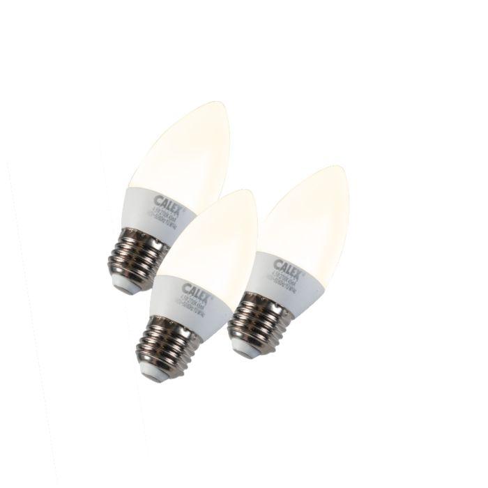 Sæt-med-3-stearinlys-LED-E27-5W-240V-2700K-dæmpbar