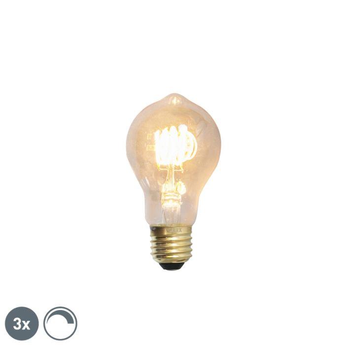 Sæt-med-3-E27-dæmpbare-LED-glødelamper-4W-200lm-2100-K.