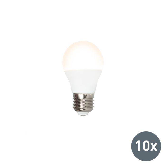 Sæt-med-10-LED-lampe-P45-E27-3W-3000K