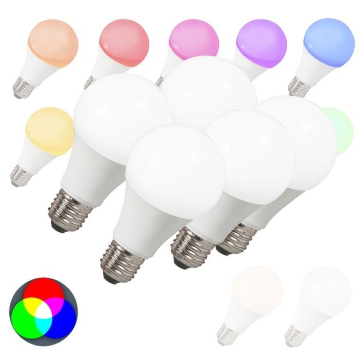 Sæt-med-5-LED-pærer-E27-240V-7W-500lm-A60-Smart-Light