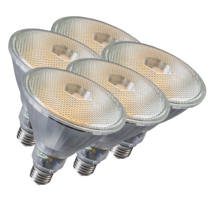 Sæt-med-5-lampe-Par38-E27-20W-800LM-2700K