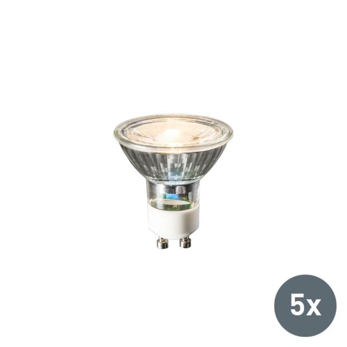 Sæt-med-5-GU10-LED-lampe-240V-3W-230lm-varm-hvid